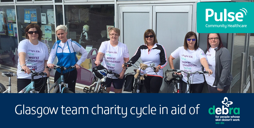 Glasgow team charity cycle in aid of Debra