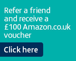Refer a friend and receive a £100 Amazon.co.uk voucher