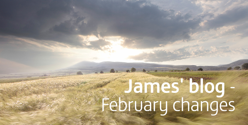 James' blog - February Changes